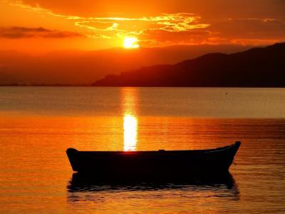 小船, 独木舟, 捕鱼, 渔夫, mar, 容器, 海滩