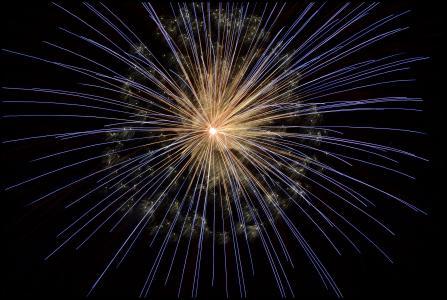烟花, 新年除夕, 光明, 光, 烟花, 晚上, 灯