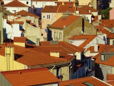 屋顶, 平铺, 里斯本, 旧城