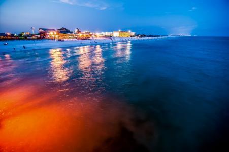 海滩, 场景, 奥卡卢萨, 岛屿, 捕鱼, 冲浪, 码头