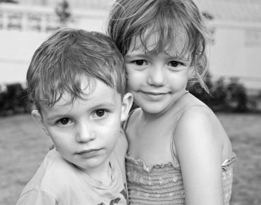 儿童, 肖像, 黑色白色, 可爱, 儿童肖像, 儿童