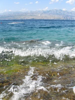 海, 克罗地亚, 夏季, 波, 自然, 水, 海滩