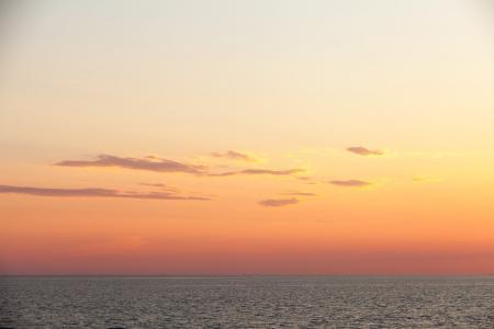 日落, 海, 汉密尔, 很漂亮, 瑞典, 天然的海洋