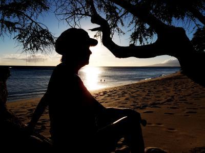 剪影, 海滩, 海, 海洋, 沙子, 热带, 天堂