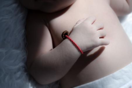 阳光, 宝贝, 温暖, 手, 腕