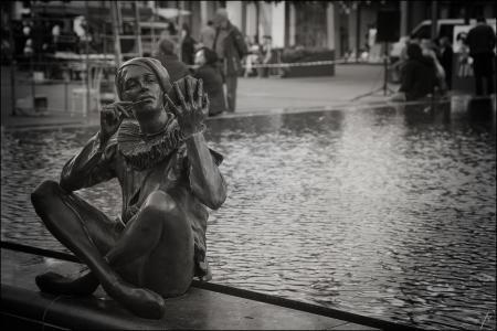 雕塑, 喷泉, 雕像, 城市, 小镇, 建筑