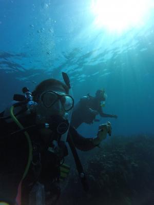 跳水, mar, 潜水员, 油缸, 双系统, 好友, 卡萨尔