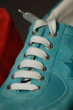 鞋子, 鞋带, 绿色, 白色, 服装, 体育, 服装