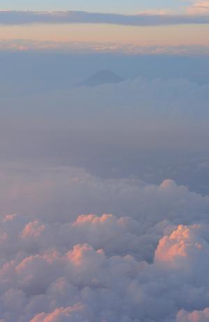 富士山, 航空照片, 云计算, 蓝色, 海军蓝色, 夏季, 富士