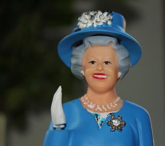 女王, 图, 波, 英格兰, 蓝色, 伊丽莎白
