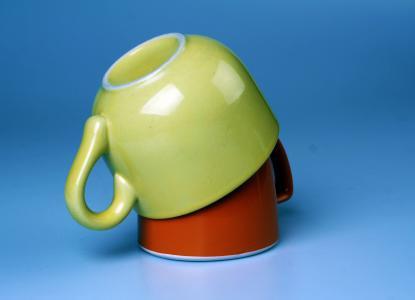 杯子, 黄色, 橙色