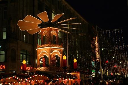 汉堡, 圣诞节, 圣诞市场, 灯, 冬天, 心情