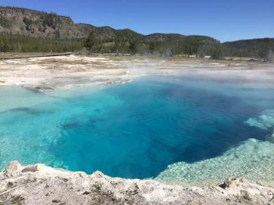 黄石国家公园, 蓝宝石池, 地热