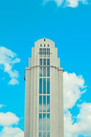 建设, 云计算, 天空, 塔大厦, 立面, 云的天空, 建筑外观