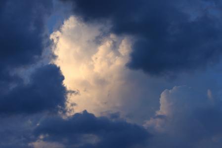 云彩, 天空, 云层形成, 白色, 蓝色, gewitterstimmung, 风暴