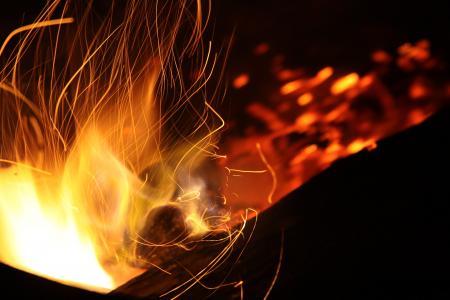 摘要, 大火, 篝火, 烧伤, 烧掉, 篝火, 露营