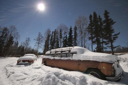 汽车, 那辆旧车, 雪, 车辆, 汽车, 年份, 复古