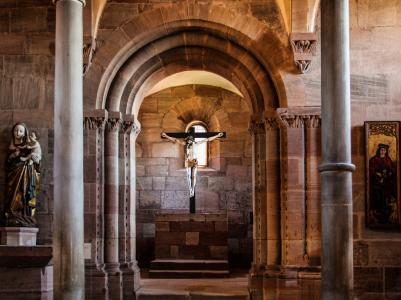 纽伦堡, 城堡, 城堡教堂, 中世纪, 皇家城堡, 十字架, 耶稣