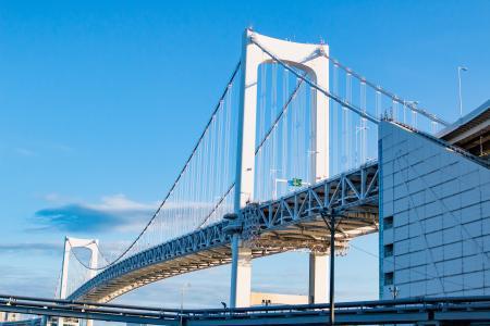 建筑, 桥梁, 城市, 连接, 建设, 日本, 具有里程碑意义