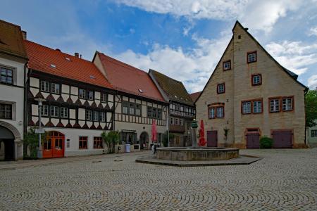 市场, 老市政厅, sangerhausen, 萨克森-安哈尔特, 德国, 老建筑, 感兴趣的地方