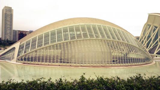 艺术与科学之城, 瓦伦西亚, 现代, 建筑, 建筑, 著名的地方, 城市场景