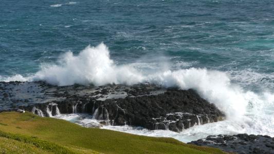 波, 破碎机, 巨大, 巨大, 澳大利亚, 喷雾, 海岸