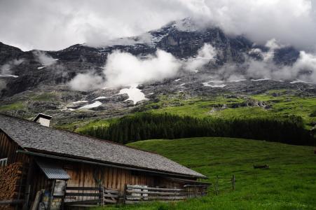 云计算, 天空, 旅行, 自然, 山, 瑞士, 云彩和山