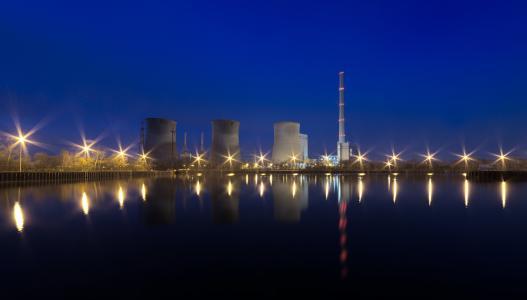 建筑, 建筑, 能源, 晚上, 照明, 行业, 灯