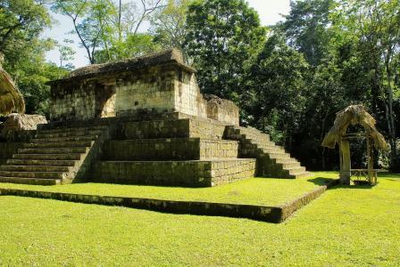 危地马拉, 赛巴尔, 玛雅人, 金字塔, sayaxche, 雨林, 废墟
