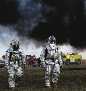 消防, 托莱多, 俄亥俄州, 吸烟, 黑烟, 消防员, 救援车