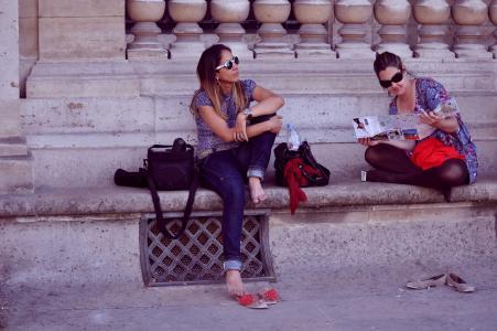 朋友, 旅游, 休闲, 假期, 旅行, 乐趣, 城市