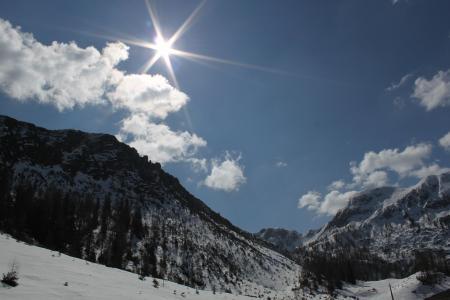 山脉, 高山, 山风景, 雪, 奥地利, 高山, 自然