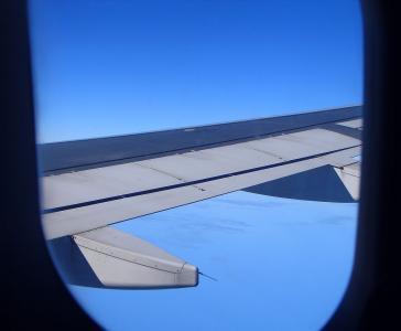 天空, 飞机, 云彩, 早上, 飞机, 机器