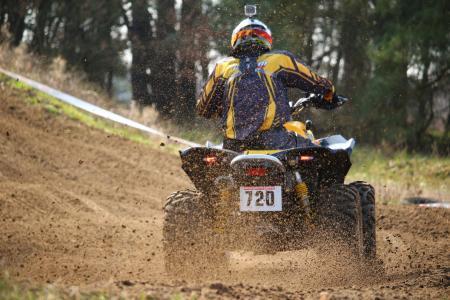 摩托车越野赛, 十字架, 四, 亚视, 竞赛, 全地形车, 沙子