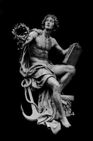 雕像, 雕塑, 符号, 锚点, 艺术, 业务, 工作