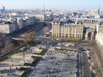 巴黎, 法国, 视图, 埃菲尔铁塔, 建筑, 城市景观, 欧洲