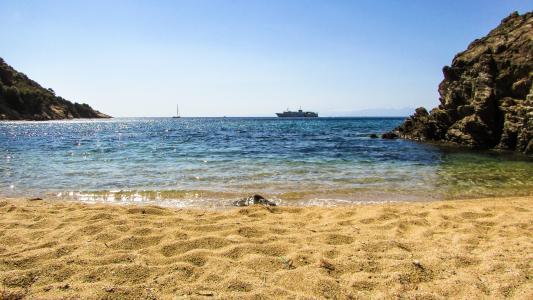 希腊, 斯亚索斯, diamanti 海滩, 海滩, 岛屿, 希腊语, 沿岸