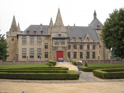 比利时, laarne, 城堡, 中世纪, 堡垒, 历史建筑, 老建筑