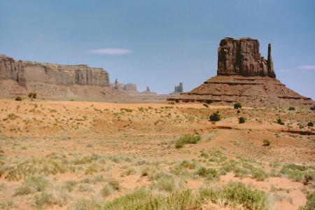 纪念碑谷, 砂岩, 巴茨, 亚利桑那州, 沙漠, 景观, 美国