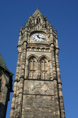 时钟, 钟塔, 大会堂, 罗奇代尔, 天空, 蓝色, 旅游