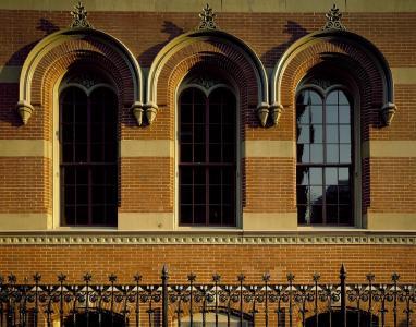 windows, 建筑, 详细, 设计, 砖, 外观, 建设