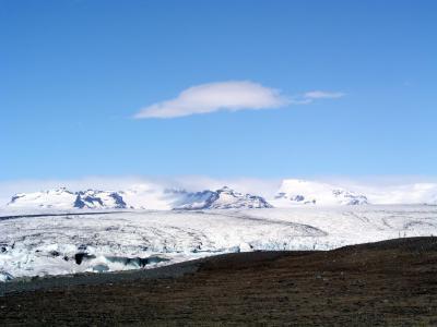 冰岛, 冰川, 火山景观, 火山岩, 山脉, 感冒, 雪