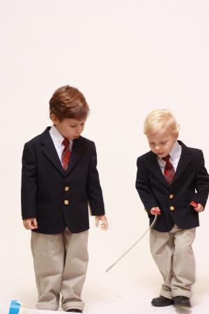 男孩, 学校, 微笑, 儿童, 西装, 小学, 男性