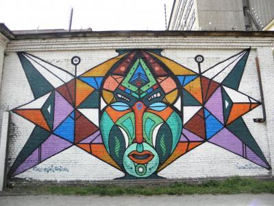 街头艺术, 涂鸦, 建设, 街道