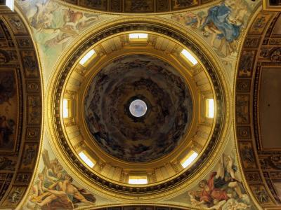 大教堂, 山谷, 罗马, 圆顶, 意大利, 天花板, 装饰