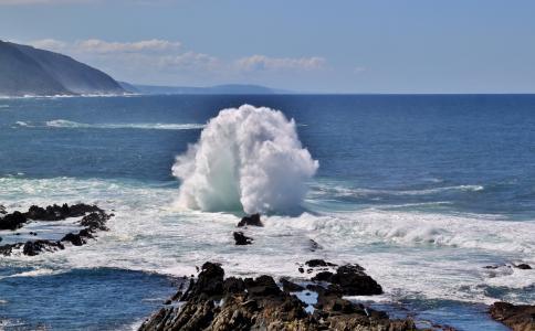 海滩, 海岸, 海洋, 岩石, 海, 海景, 飞溅