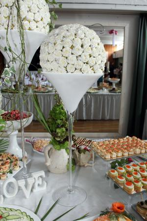 玫瑰, 白色, 餐桌装饰, 插花, 花, 部门