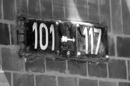 房屋号码, 道路, 固定, 汉堡, 老, 标志