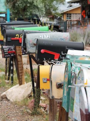 邮箱, 马德里新墨西哥, 复古, 邮箱, 琥珀色 avalona, 邮政, 邮件