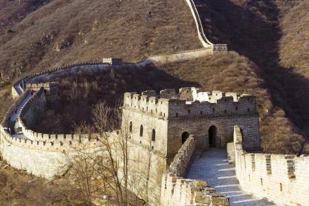 中国, 北京, 长城, 古城墙, 风景, 墙上, 建设